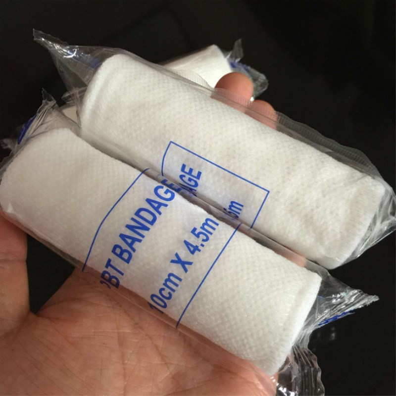 10 Pcs/Lot PBT Elastic Bandages White Bandage First Aid Kit Supplies For Home Care And Wound Fixation 5cmx4.5m 7.5x4.5m 10x4.5m