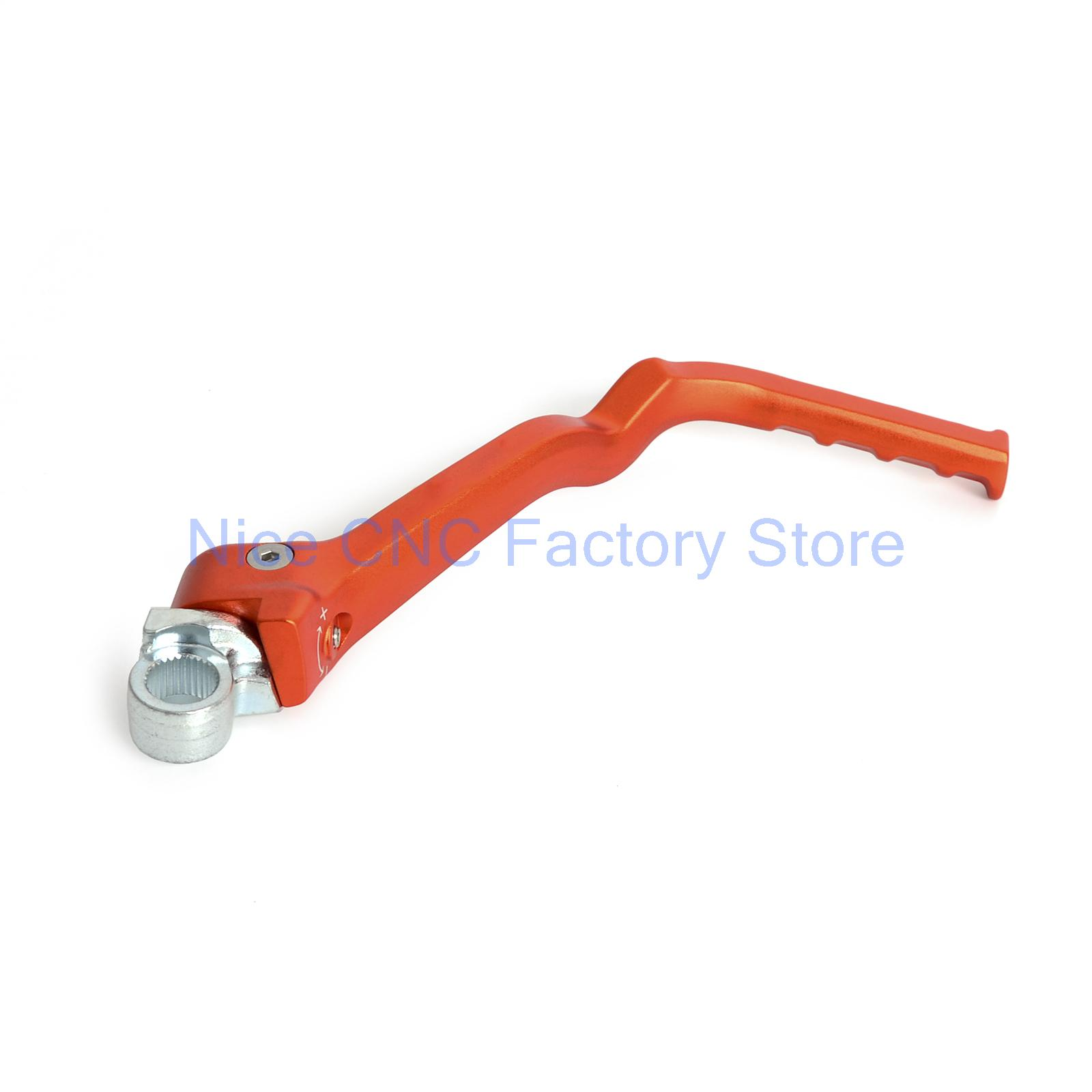 Forged Kick Start Lever for KTM 250 300 350 450 500 SX/XC/XCF/XCW/EXC/XCF-W/SX-F/XC-F  Husaberg TE250 TE300 TC250 orange cnc billet factory oil filter cover for ktm sx exc xc f xcf w 250 400 450 520 525 540 950 990