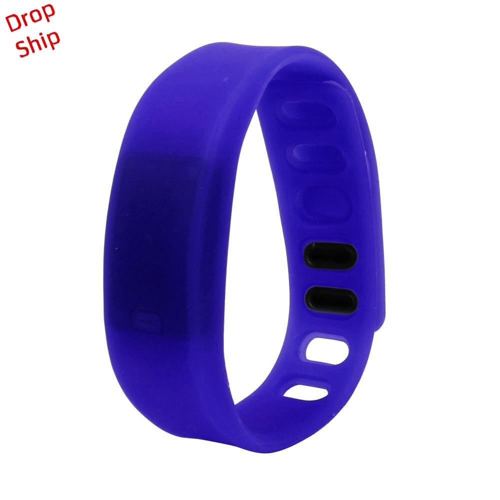 Stylowa hurtownia Mężczyźni Kobiety Relogio Rubber LED Watch Data - Męskie zegarki - Zdjęcie 2