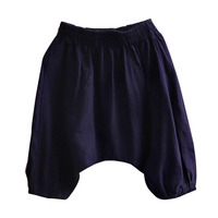 Child Baby Boys and Girls Dark Blue Harem Pants Summer Kids Pants Children's Clothing