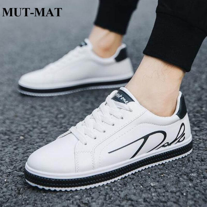 2019 New Spring Autumn Men's Casual Shoes Hot-sale Classic White Sports Trainers Shoes Genuine Leather Men Skateboard Shoes