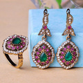 2015 New Arrival Alloy Resin Earring ring Jewelry Set Fashion Brand Women's Turkish Brincos Grandes African Costume Jewelry set