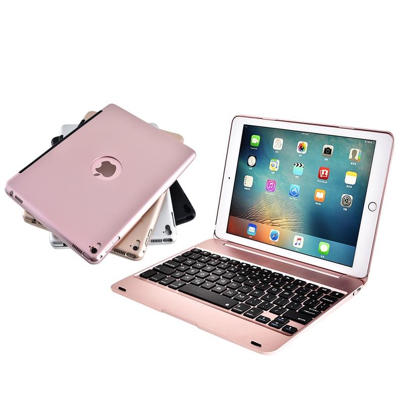 De luxe Smart Case pour iPad 9.7 ''Sans Fil Bluetooth Clavier Cas pour iPad 9.7 2017/Pro 9.7/Air 2/Air Tablet Flip Stand De Couverture