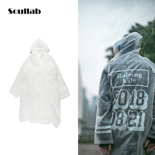 soullab new men male unisex water proof top jacket high quality waterproof letter print fashion streetwear raincoat swag skate(China)