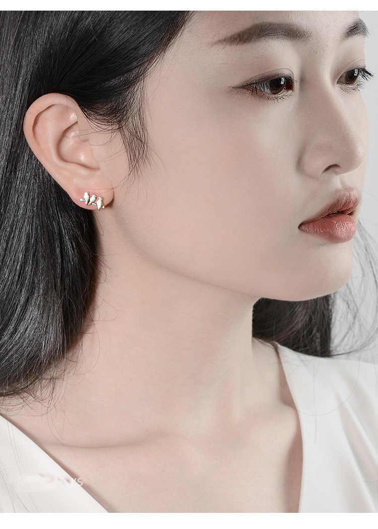 Boucles d'oreilles en argent Sterling 925 pour femmes, bijoux de noël hypoallergéniques, pendientes mujer moda 2018 EH529
