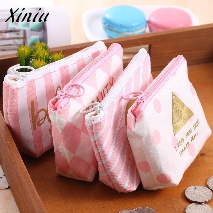 Pink Change Deposit Bag Mini Cute Student Fashion Deposit Package Coin Purse designer bags famous brand women bags 2017