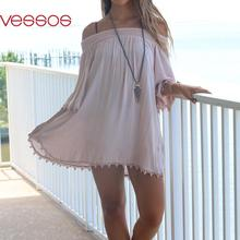 Women Female Fashion Sexy Solid Off-Shoulder Lacework Slim Sheathy Half Sleeve Top Blouses Pink S/M/L/XL Blusas Y Camisas Mujer