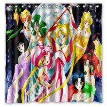 Sailor Moon Waterproof Shower Curtain Polyester Fabric Bath Bathing Bathroom Curtains with Hooks Home Decor