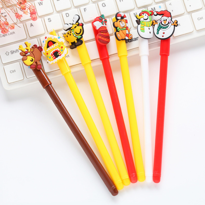 1 PCS New Cute Elk Christmas Series Gel Pen Student Stationery Novelty Gift School Material Office Supplies