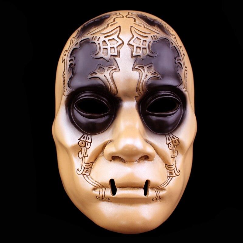 1 pcs Résine Halloween Masque Harry Potter Thème Baguette Mangemort Masque D'horreur Soutiens Accessoires pour La Maison Décoration Mascarade Masque Effrayant Pour partie
