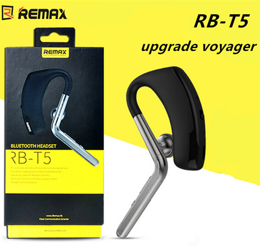 2015 Fashion REMAX RB-T5 Trends Metal Wind Noise Canceling Bluetooth Headset Wireless HD Sound Earphone For IPhone 4 5 6 Samsung remax bluetooth v4 1 wireless stereo foldable handsfree music earphone for iphone 7 8 samsung galaxy rb 200hb