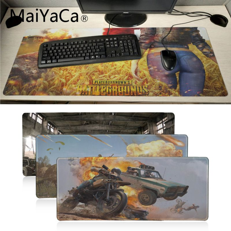 Maiyaca PUBG Playerunknown's Battlegrounds Pad Game Mousepad Laptop PC Computer Gaming Mat Large Mouse Pad Gamer Pad Mouse