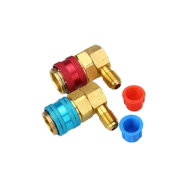 Likebuying 2Pcs R134A System Car Automotive Air Conditioning QC15 Quick Connector Adapters