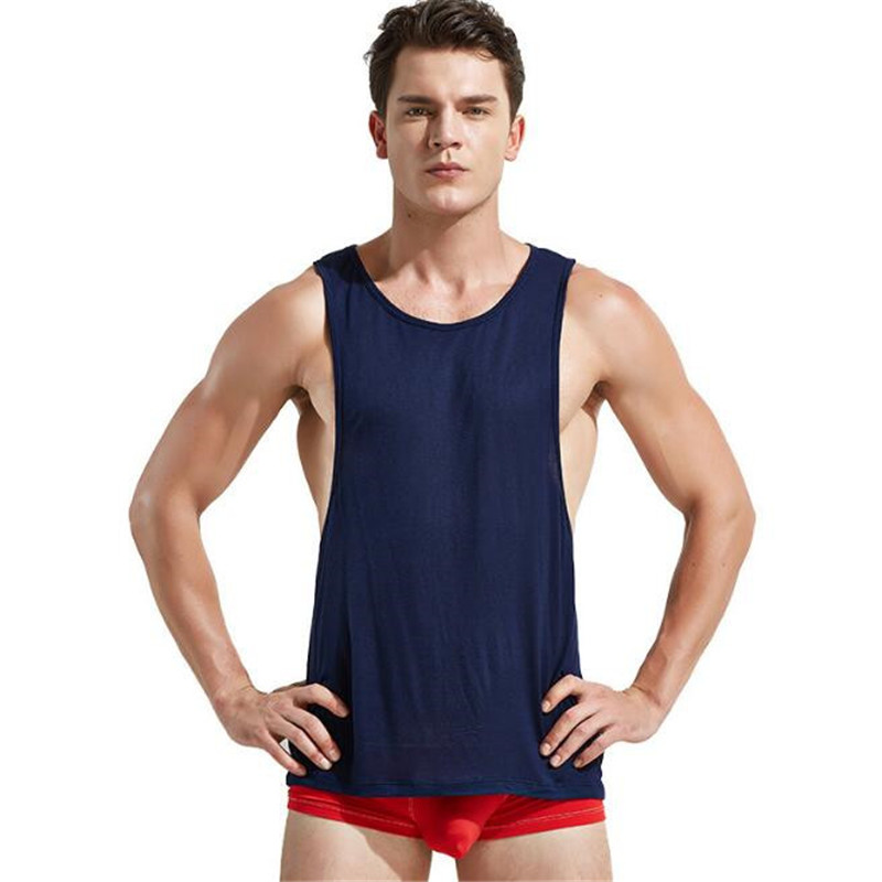 New Men's   Tank     Tops  ,Men's Low Cut Armholes Vest,Sexy Men's   Tank  ,Men's Sexy Tees