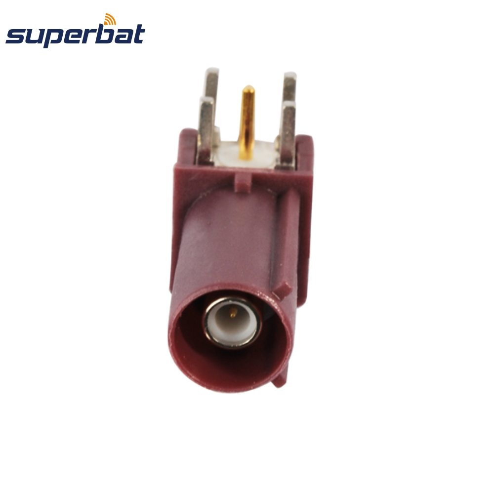 Superbat 10pcs RF Coaxial Connector Fakra Plug Male PCB Mount Right Angle For Violet Car GSM Cellular Phone