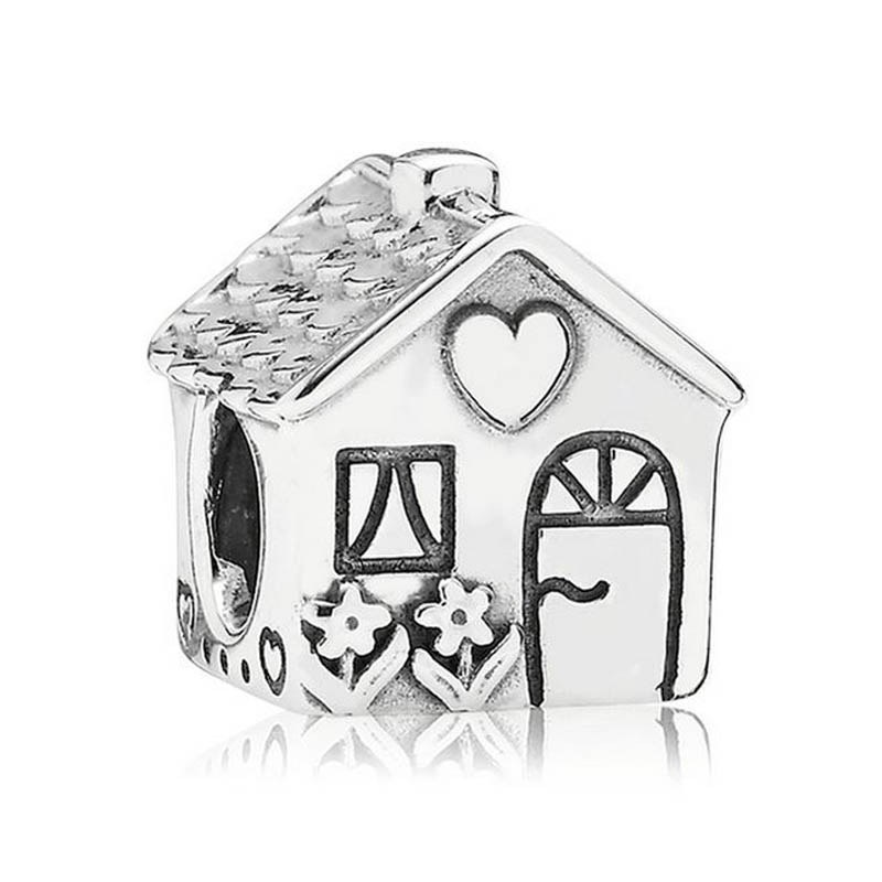 Authentic S925 Silver DIY Jewelry Home Sweet Home Charms fit Pandora Bracelet Girl Lady Birthday GiftAuthentic S925 Silver DIY Jewelry Home Sweet Home Charms fit Pandora Bracelet Girl Lady Birthday Gift