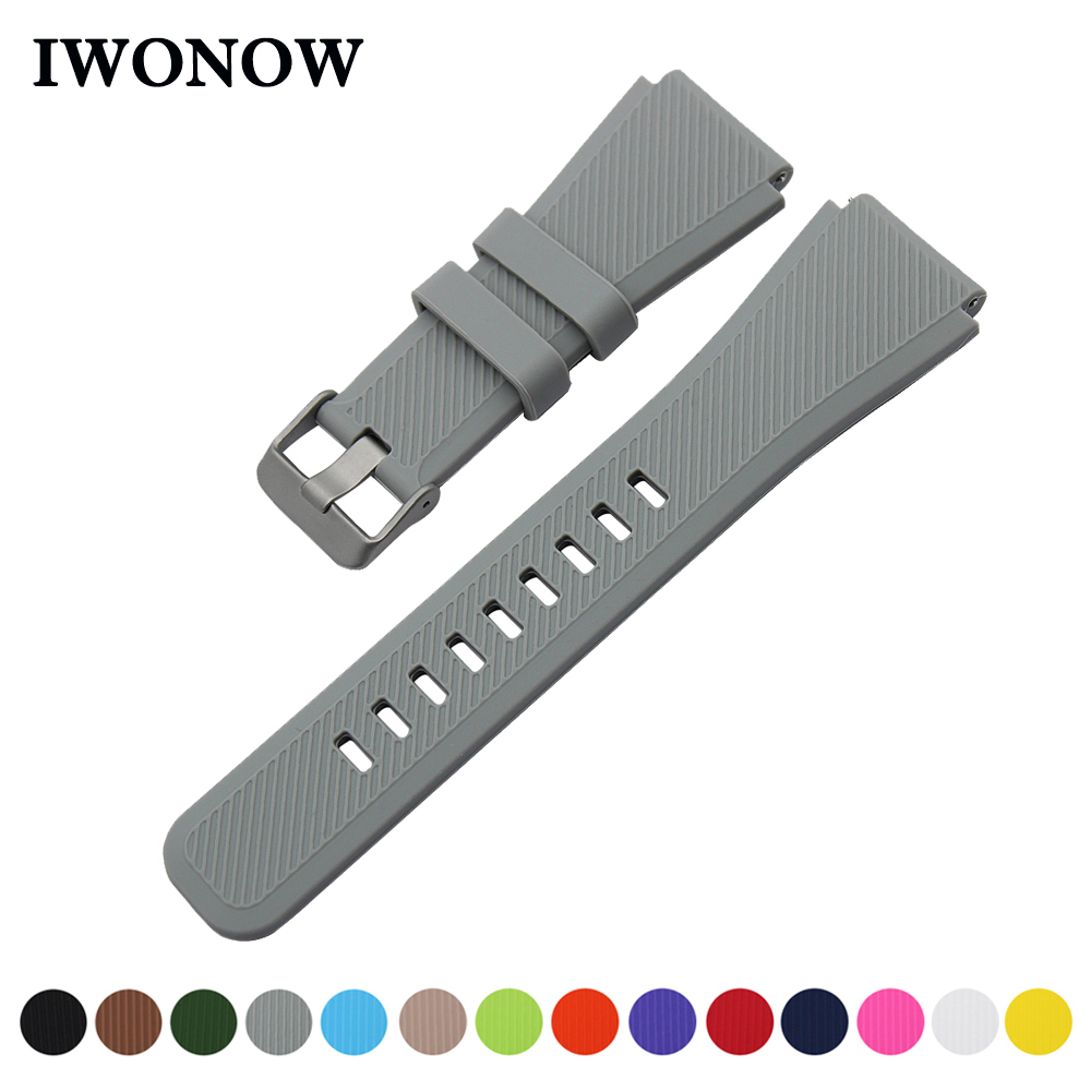 Silicone Rubber Watch Band 21mm 22mm for Timex Weekender Expedition Quick Release Strap Stainless Steel Buckle Wrist Bracelet