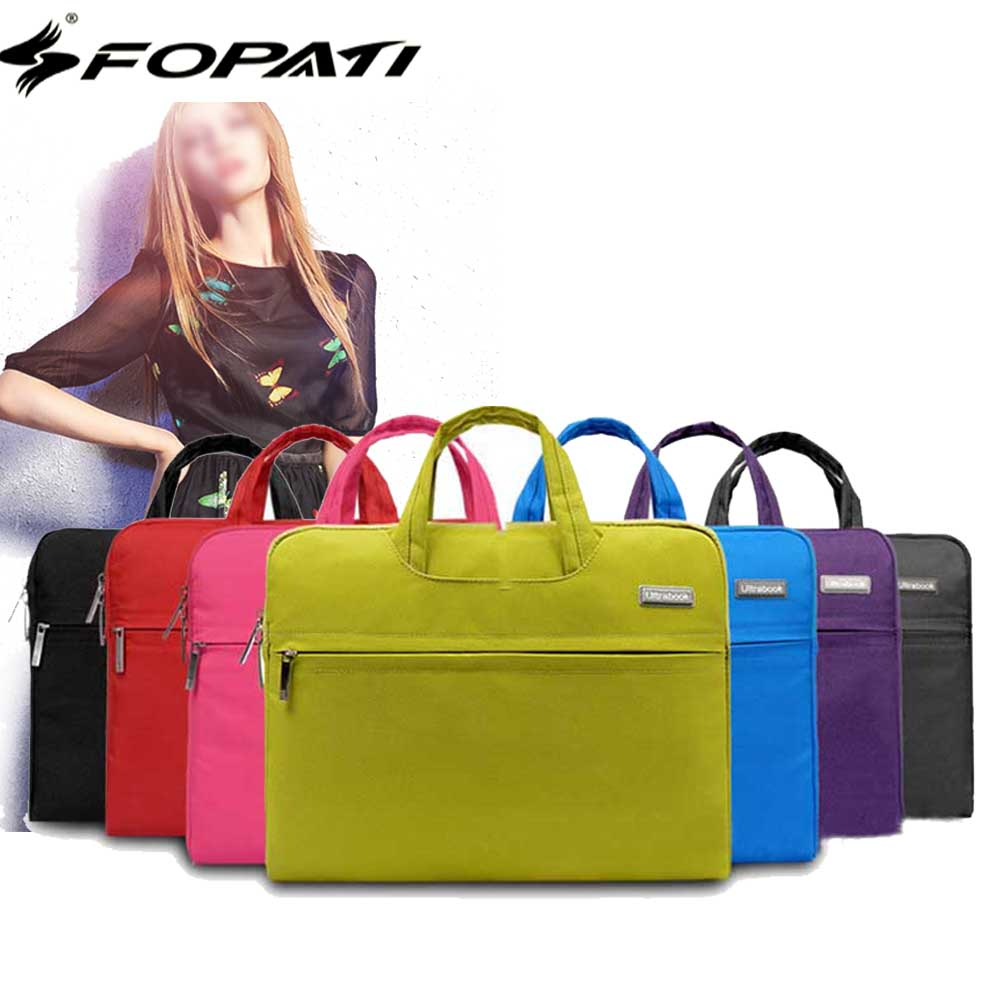 2017 Hot Fashion Laptop Bag 15.6 14 13 12 11.6 inch Notebook Computer Sleeve Bag Women Men Handbags for Macbook Air Pro Case