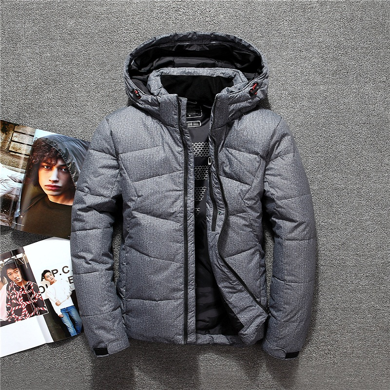 Russia Winter mens jacket hooded detachable warm thermal windbreaker casual   down   jacket men 90% white duck   down     coat   outerwear