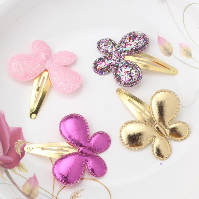 New Arrival Summer Style Metal Color Children Shiny Star Hairgrips Baby Hairpins Girls Hair Accessories Heart Star Hair Clip