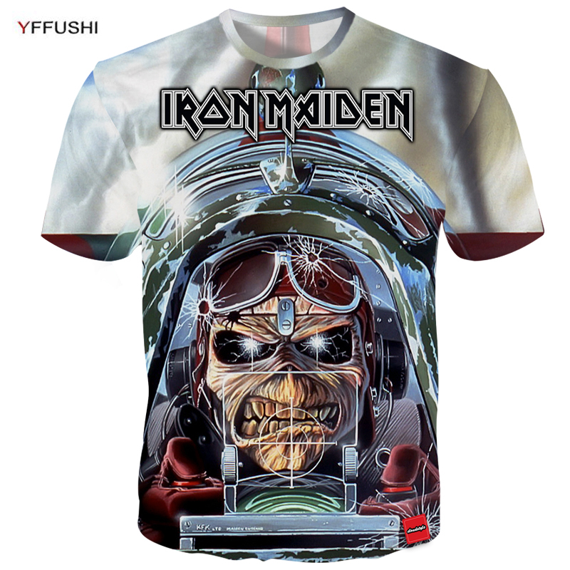 YFFUSHI 2018 3d t-shirt Men Iron Maiden Band Series 3d Printing Short Sleeve Tshirts Streetwear Hip Hop Men Plus Size 5XL