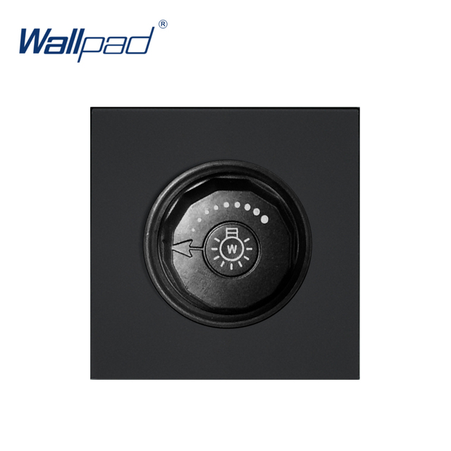 Wallpad Luxury Dimmer Switch Outlet Function Key For Wall White And Black Plastic Module Only