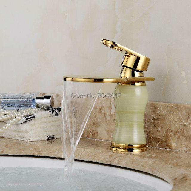 Antico bagno retr pietra di marmo rubinetto colore dorato cascata bagno lavabo rubinetti zr805 - Bagno di colore prezzo ...