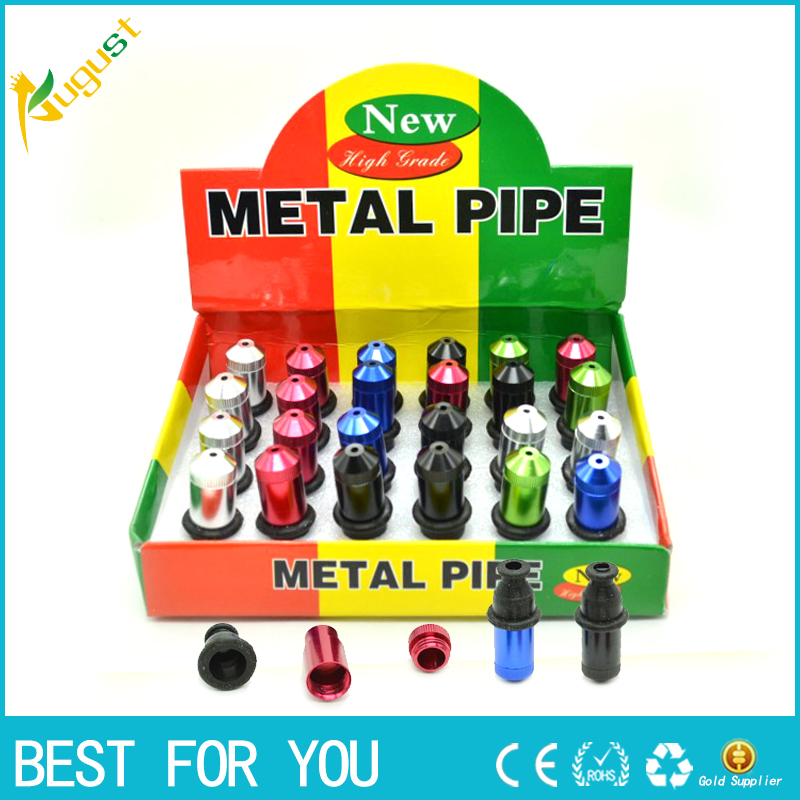 1pc Funky Variety of colors Metal Pipe as smoke accessary to smoke can also as grinder tool or gift for men to smoking