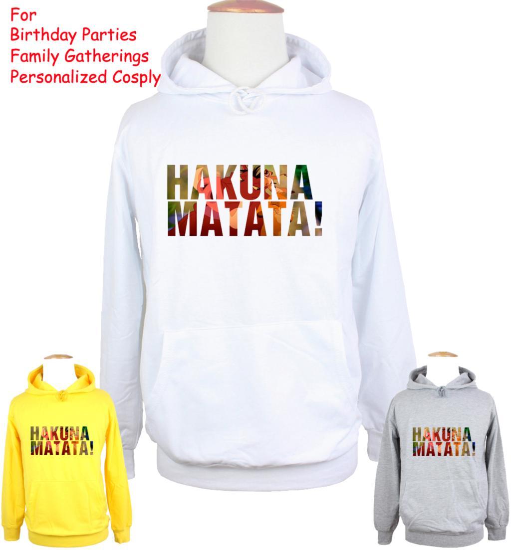 Unisex The Adventures of Timon Pumbaa Hakuna MATATA Design Hoodie Mens Boys Womens Girls Sweatshirt Tops Printed Hoody