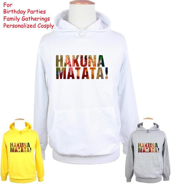 Unisex las aventuras de Timon Pumbaa Hakuna MATATA diseño Sudadera con capucha para hombre niño mujer chica camiseta impreso Sudadera con capucha