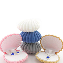 Lovely Shell Shape Display Box Necklace Ring Earrings Jewelry Storage Case Gift Box