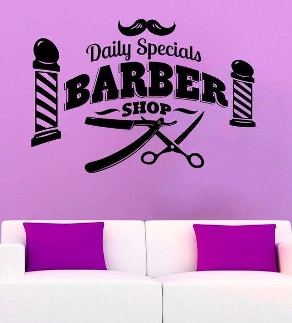 Despeje Etiqueta De La Pared Tienda Barbería Hombre Salón