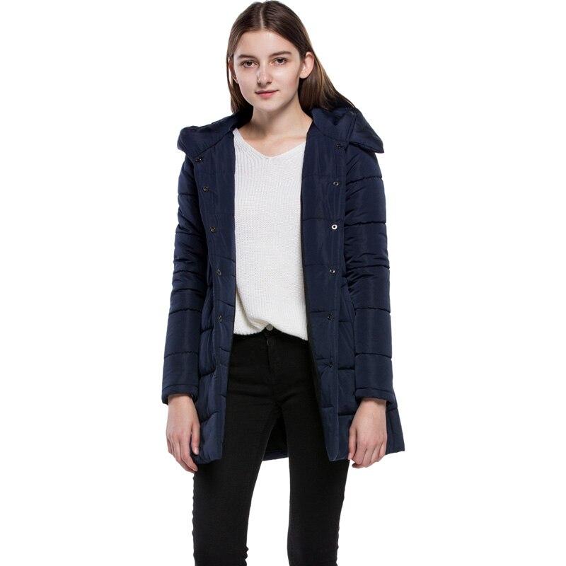 Féminine Paraks Ouatée Jq427 Longue Haute Qualité Manteau Picture Hiver Mode Automne Dames Capuche Color 2018 Casual Coton Couleur Solide New Lâche YU8vW