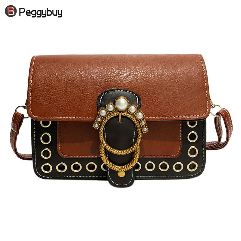 4c69b42910a9 Women PU Leather Chain Vintage Mini Flap Pearl Ladies Purse Handbags  Crossbody Bags Shoulder Casual Bags Female Small Handbag-in Top-Handle Bags  from ...