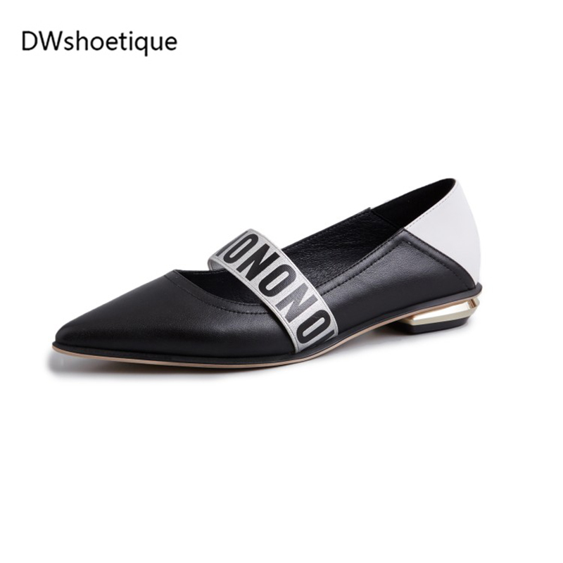 white Casual Talons Black Bout Femmes Véritable Haute Printemps Pointu Pompes 2019 2 Cm Chaussures Leahter 6SapqZ