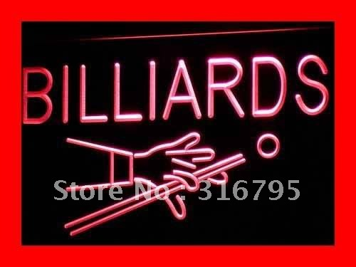 i309 Billiards Pool Room Table Bar Pub NEW Light Sign On/Off Switch 20+ Colors 5 Sizes