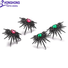 Honghong Occident популярный стиль черные нано циркониевые серьги Высококачественная индивидуальность hyperbole серьги-гвоздики модные ювелирные изделия