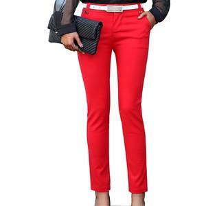 Image 2 - Kadın kalem pantolon 2019 sonbahar yüksek bel bayanlar ofis pantolon rahat kadın ince Bodycon pantolon elastik Pantalones Mujer