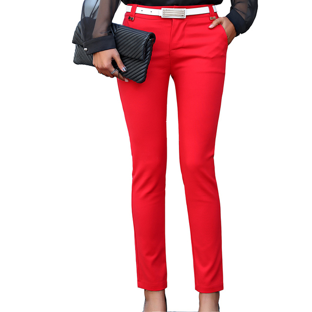 Women Pencil Pants 2019 Autumn High Waist Ladies Office Trousers Casual Female Slim Bodycon Pants Elastic Pantalones Mujer 2
