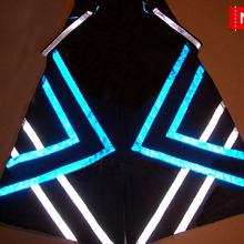 Melbourne Shuffle Fluoreszierend Stripes PHAT Pants Raver ore Techno Hardstyle Tanz