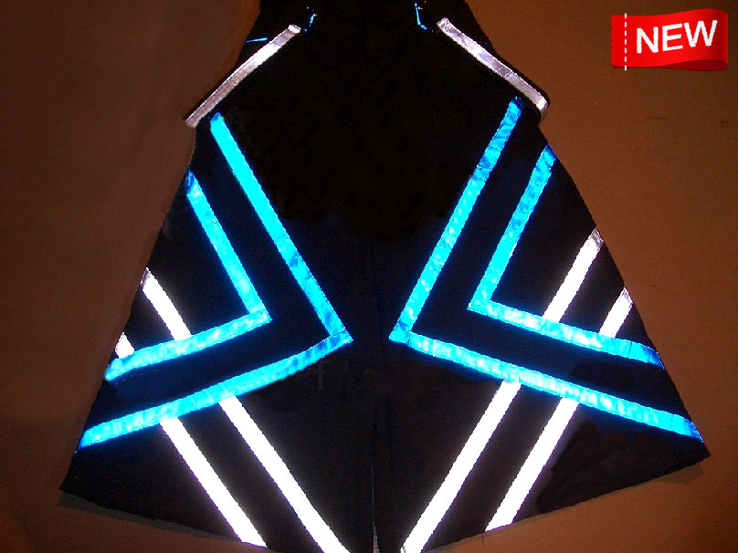 Melbourne Shuffle Pants Fluoreszierend Stripes PHAT Raver Ore Techno Hardstyle Tanz Hose Reflective Trousers NEW