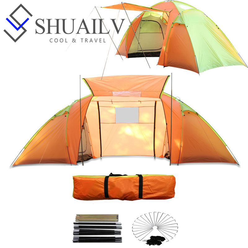 Large Camping Beach Tent Outdoor Windproof Waterproof Big Hose Tents 2 Bedrooms Two Door Double Party Family Travel Tents krati jain pooja arora and yashpal singh dental implant biomaterials