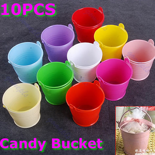 10 X Mini Cute Chocolate Candy Bucket Keg DIY Wedding Party Favors New