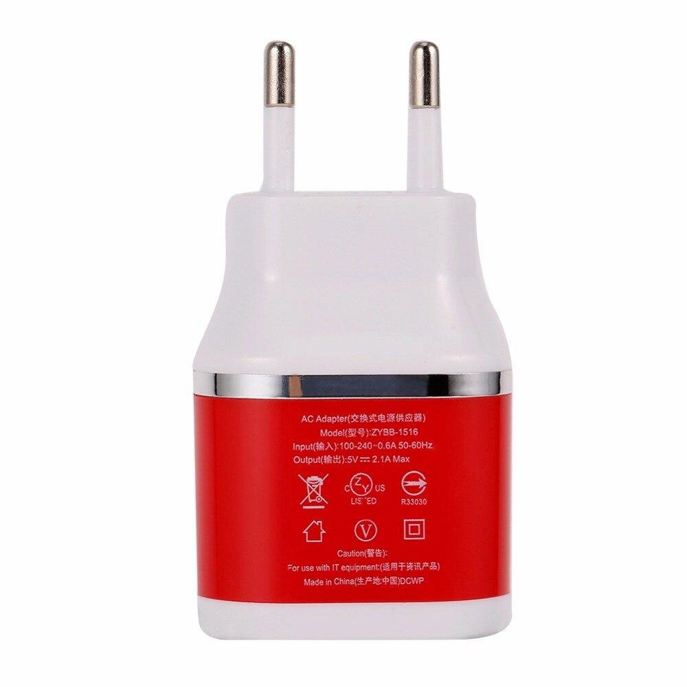 Universal 2.1A 2 Port EU AC Travel USB Wand Schnellladegerät für iPhone...