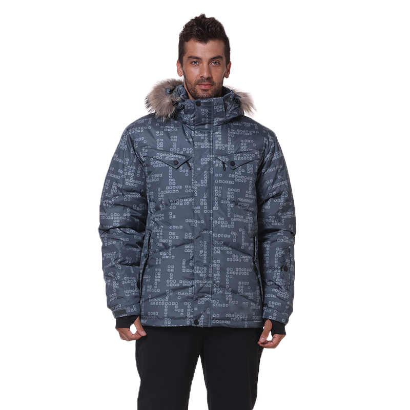 8a1720c69b 2018 New Men Down Jacket Winter Down Coats 80% White Duck Down Real Raccoon  Fur Men Fashions Men ...