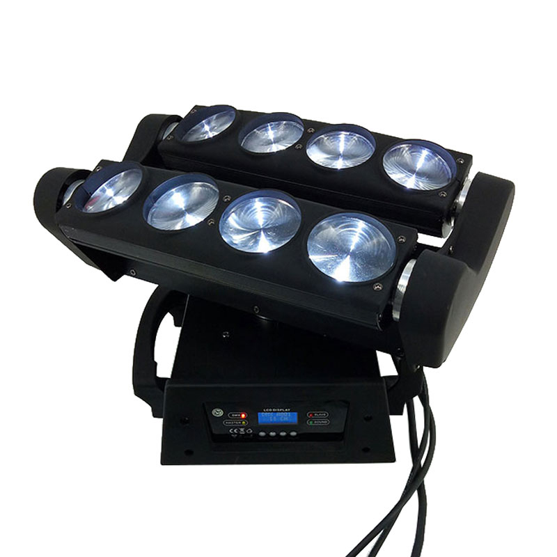 (2pcs) Mini LED Spider 8x10W Beam Moving Head Light DMX Stage Christmas Light DMX DJ Disco Stage Party Lighting Equipments цены онлайн