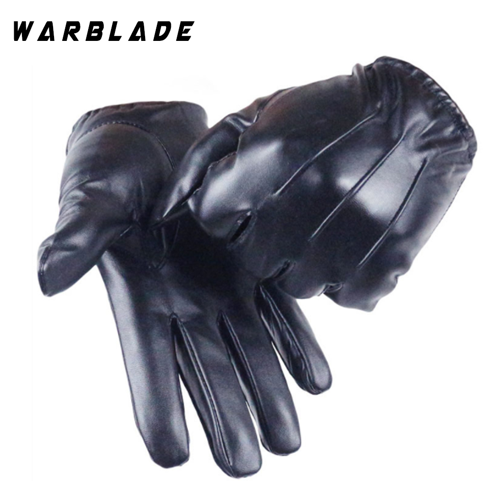 Hot Guantes Tactil Glove Women Touched Screen Gloves Men Leather Gloves Autumn Winter Full Finger Unisex Luvas WarBLade