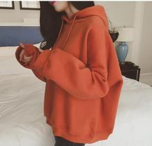 Осень для женщин Свободные куртка с капюшоном Корейская версия толстый свитер 15