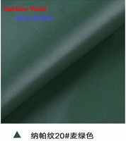 20# deep green High Quality Nappa Stripes vein grain PU Leather fabric for DIY sofa bed shoes bags Garment material(138*100cm)