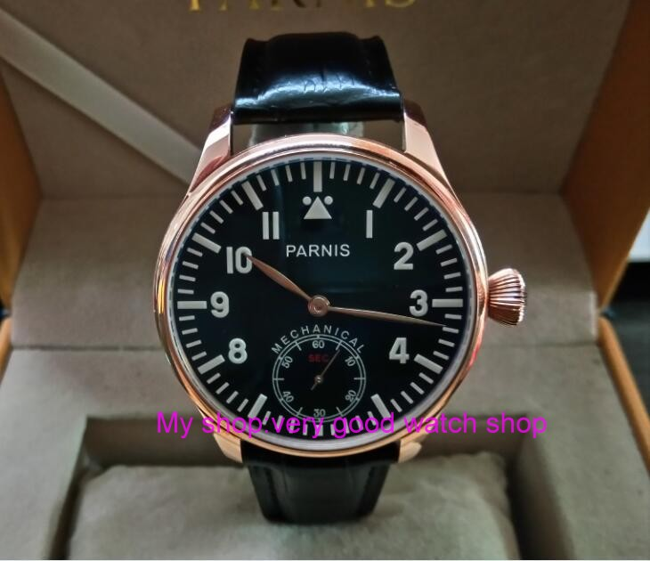 Blue luminous 44mm parnis Black dial 6498 / ST3621 Mechanical Hand Wind movement mens watches Mechanical watches 311ABlue luminous 44mm parnis Black dial 6498 / ST3621 Mechanical Hand Wind movement mens watches Mechanical watches 311A